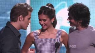 Paul Wesley and Ian Somerhalder seduce Nina Dobrev at the 2011 Teen Choice Awards
