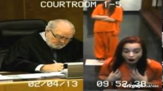 Teenager giving judge the finger lands her in jail