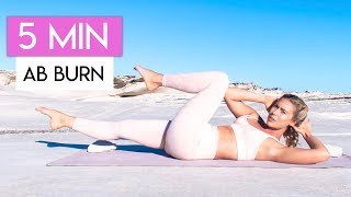 5 MINUTE AB BURN WORKOUT 💕