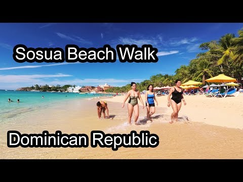 Sosua Beach Walk 1 - Domincan Republic 2017 4K