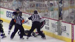 Andy Sutton DESTROYS Jordan Leopold - Apr 16th 2010 (HD)