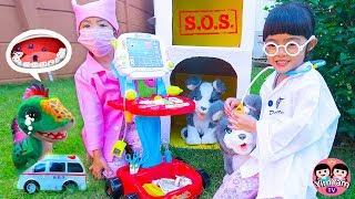 หนูยิ้มหนูแย้ม   Kids Role Play Toy Doctor คุณหมอฉุกเฉินช่วยเหลือเด็กและสัตว์