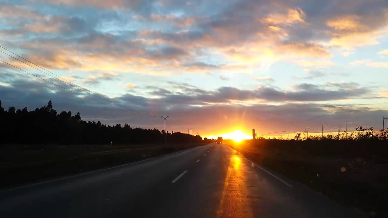 Background Video: sunset driving the car 2014 - YouTube