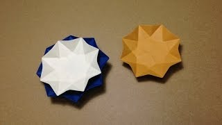 How To Make A Paper Ceramics  / Origami Flower Plate