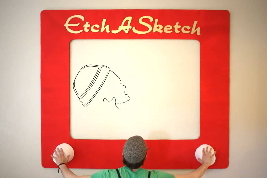 Giant Etch A Sketch (stop motion) - YouTube