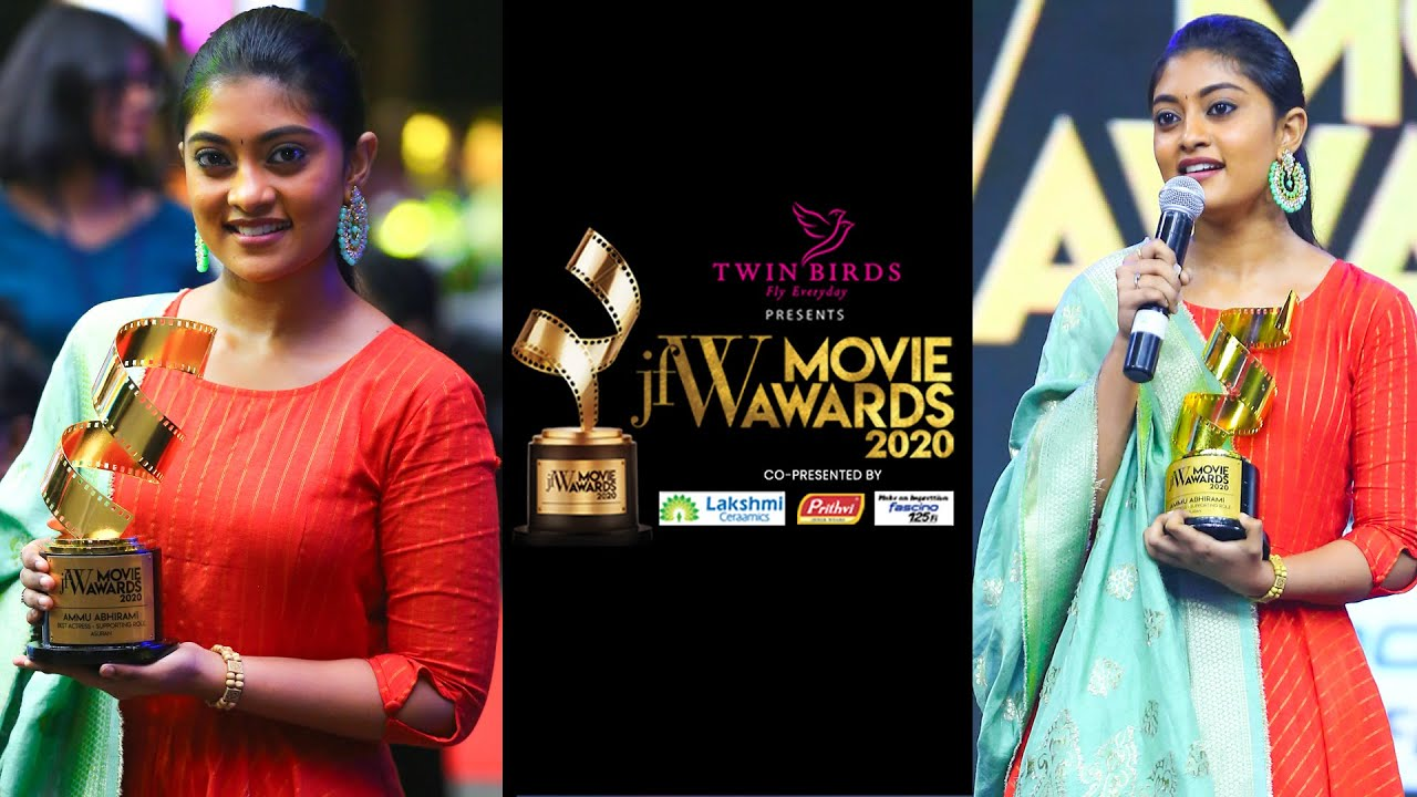 BEST SUPPORTING ACTRESS - AMMU ABHIRAMI | ASURAN WAS A LIFETIME OPPORTUNITY| JFW MOVIE AWARDS 2020