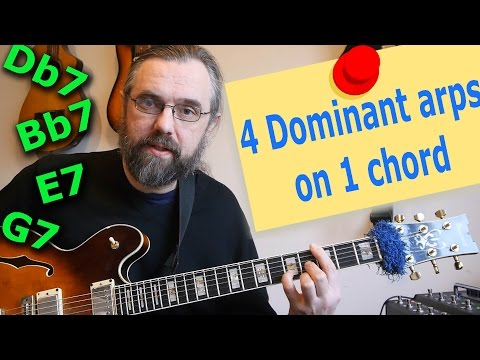 4 Dominants Arpeggios over One Chord 💡 -  Simple but great concept!