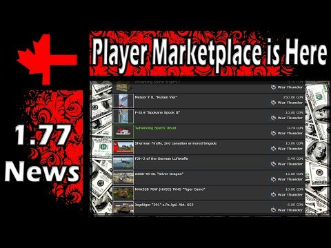 War Thunder - The Player Marketplace Is Here (YouTube Botched Frame Rate)