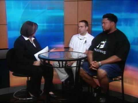 Gilbert Brown visits the Morning Show