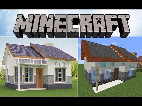 Minecraft: Tek Katlı Lüks Ev Yapımı