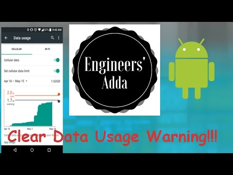 How To Clear Data Usage Warning!!!   1 Minute Trick 