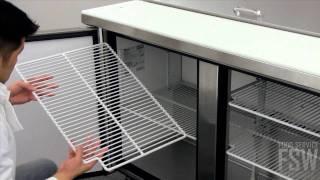 True Sandwich/salad Prep Table Video (tssu-48-12)