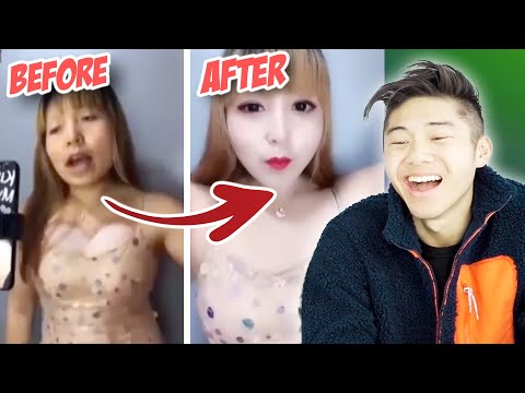 9 WILD CHINESE MAKEUP TRANSFORMATIONS FROM TIK TOK CHINA (NEVER TRUST BEAUTY FILTERS)