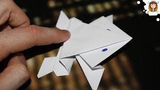 Como fazer um Sapo de papel que salta  - (Origami passo a passo)