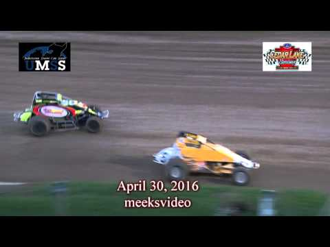 April 30, 2016 UMSS Non Wing Sprints Cedar lake Speedway