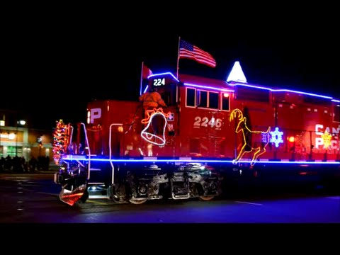Christmas Train.Cp Holiday Christmas Train In Montreal Quebec