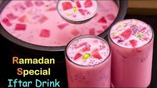 நோன்பு திறக்க ஒரு முறை செஞ்சு பாருங்க👌😋 | Ramadan Iftar Drinks | Rose Milk Sarbath | Iftar Drink