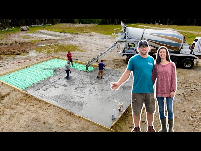 It's FINALLY TIME!!! Pouring Concrete for Our OFF-GRID TINY House SLAB
