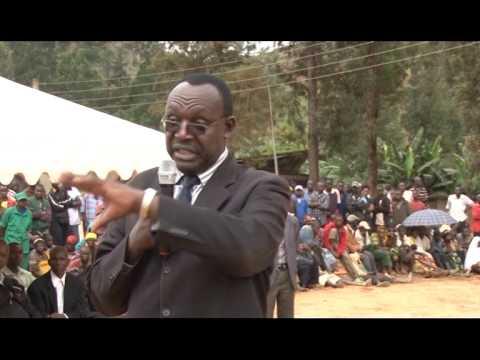 Launch of the contruction works of Akanyaru-Haut Cross border market -Nyaruguru District