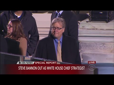 Steve Bannon Out As White House Chief Strategist
