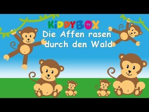 Die Affen rasen durch den Wald - Kinderlieder zum Mitsingen - (KIDDYBOX.TV) Karaoke Lyric Songtext