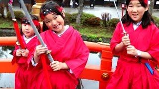 【無計画な北海道旅行④】 登別伊達時代村で修行して立派な忍者になった三姉妹