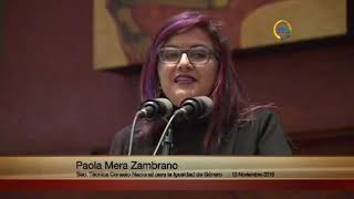 Paola Mera, Secretaria Técnica #CNIG | Sesión 492 #CódigoDemocracia