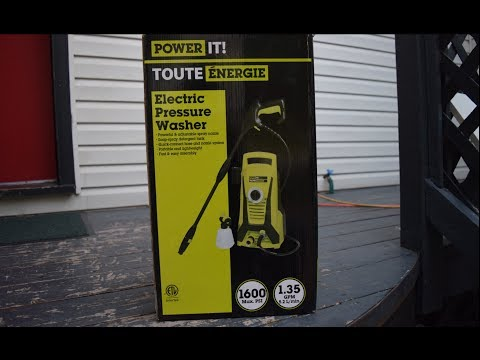 My New Electric Pressure Washer ( power it toute energie ) ( Noob Unbox )