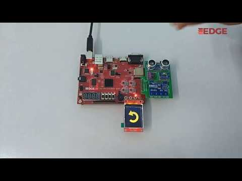 Gesture Recognition sensor output on SPI TFT Display - EDGE ZYNQ SoC FPGA kit