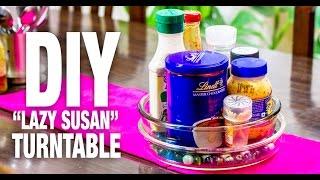 DIY Lazy Susan Turntable: DIYIndian | DIY Lazy Susan Organizer | How to make a cheap Lazy Susan