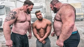 Strongman schüchtern Bodybuilder ein! 10 Tonnen LKW ziehen! #2