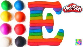 The Letter E. Learning ABC with play doh. Learn Colors & alphabet. ...