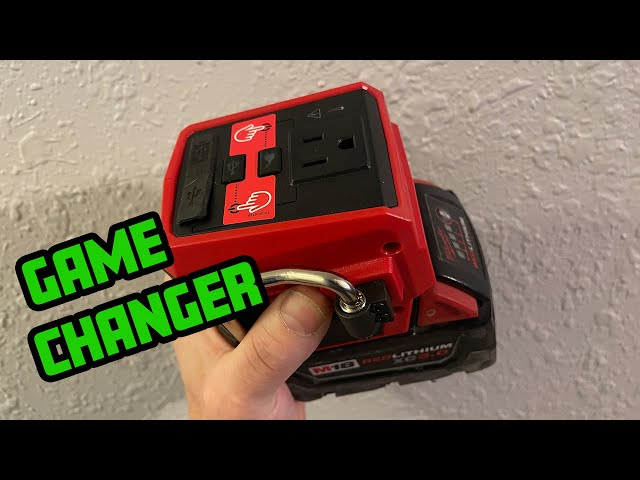 Portable 120v power that fits in your hand! M18 MILWAUKEE TOPOFF