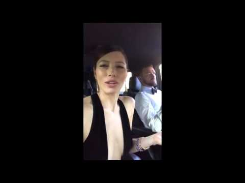 "Jessica Biel & Justin Timberlake's reaction to Woody Harrelson ""Lost In London"""