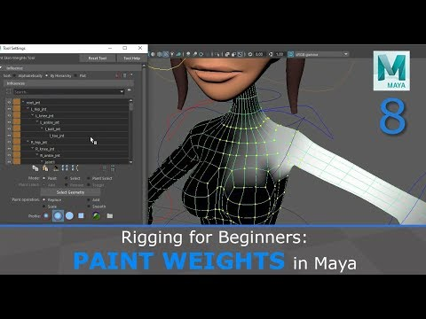 Rigging For Beginners: Painting Weights In Maya