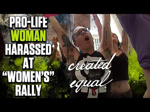 """Pro-Abortion """"Voices for Women"""" Attendees Silence Pro-Life Woman"""