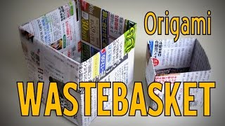 Origami - How to make a WASTEBASKET