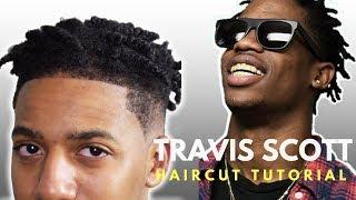 Travis Scott Haircut Barber Tutorial Step By Step Youtube