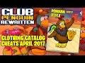 Club Penguin Rewritten - April 2017 Clothing Catalog Cheats