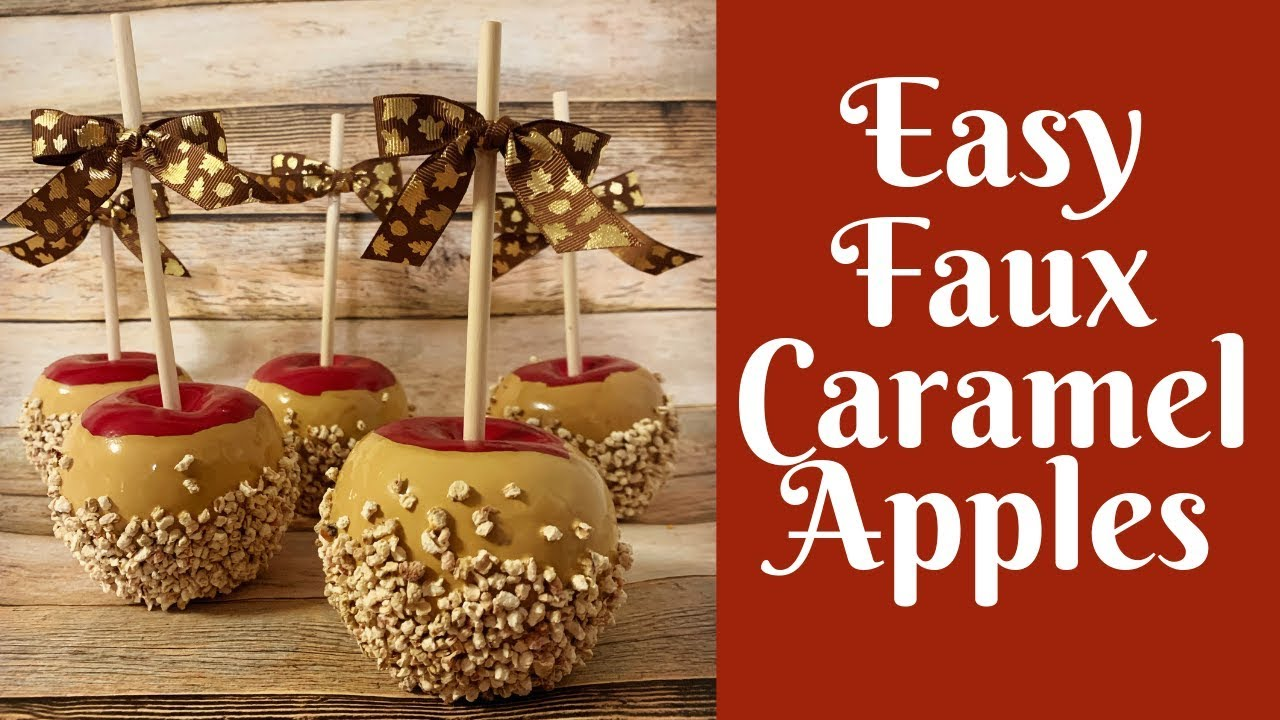 Fall Crafts Easy Faux Caramel Apples Youtube