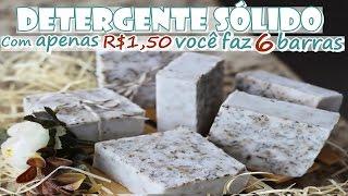DETERGENTE SÓLIDO DE COCO – Com R$ 1,50 você faz 6 barras – Fran Adorno