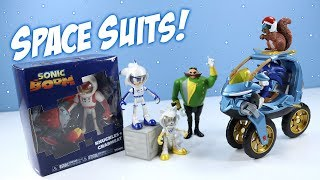 Sonic Boom Space Suits Sonic Knuckles & Tails and Blue Force One Vehicle Tomy