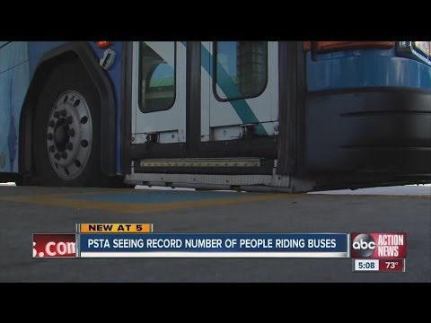 PSTA Sees Record Number of Bus Riders