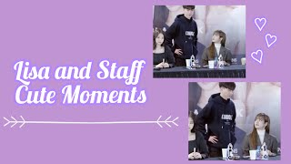 Lisa and Staff Cute Moments♡ Part 1 [BLACKPINK]