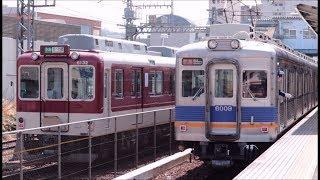 南海高野線 河内長野駅の電車発着の様子 X9