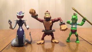 Teenage Mutant Ninja Turtles 2012 Karai Serpent, Monkey Brains, & Napoleon Dynafrog Review
