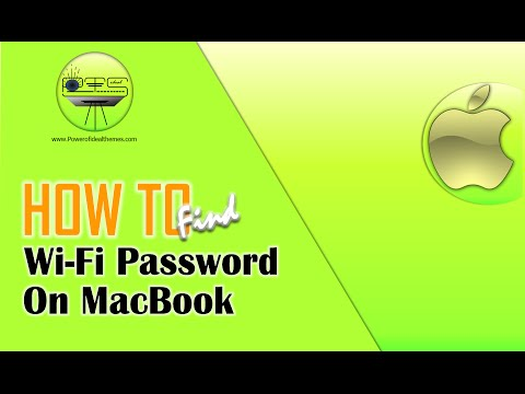 how to show saved password wifi macbook