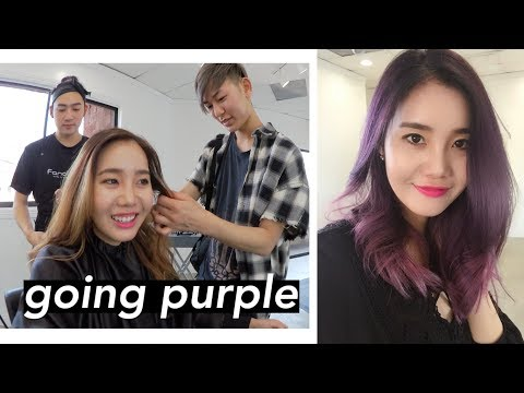 UNICORN HAIR | Dying My Hair Purple at Miju Van Salon