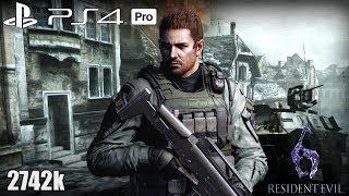Resident Evil 6 PS4 Pro NO MERCY 2742k Steel Beast Chris 60fps