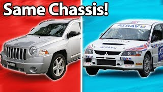 5 Cars You'd Never Guess Shared The Same Chassis!! 🔧
